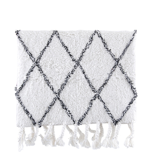 BATHMAT MENDY 50X80 WHITE/GREY