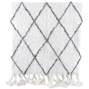 BATHMAT MENDY 70X140CM WHITE/GREY
