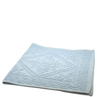 BATHMAT JACQUARD 55X110CM LIGHT BLUE