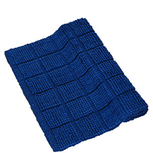 BATHMAT CHENILLE 55X110CM DARK BLUE