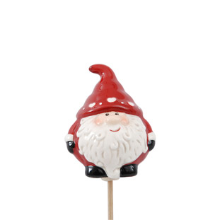 DECORATION STICK SANTA RED