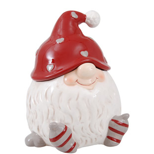 JAR SANTA NISSE WHITE LARGE