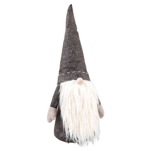 TOMTE LONG BEARD GRÅ STOR 62 CM