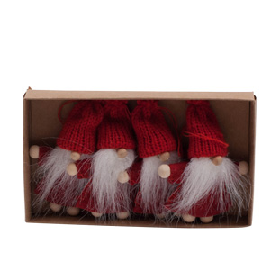 HANGING DECORATION TOMTE 4/SET RED