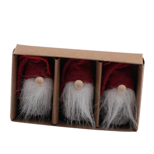 HANGING DECORATION TOMTE WOLLY 3/SET