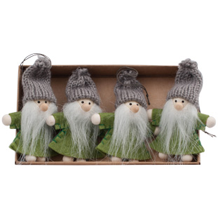 HANGING DECORATION NISSE 4/SET GREEN