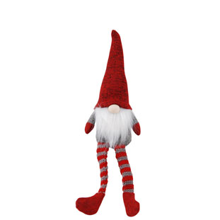 DECORATION SANTA STRIPE LEGS SMALL