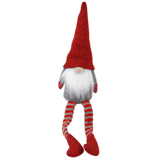 DECORATION SANTA STRIPE LEGS LARGE
