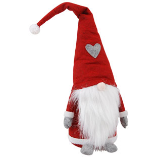 DECORATION SANTA WITH HEARTLY HAT