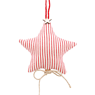 FABRIC CHRISTMAS STAR WITH CINNAMON