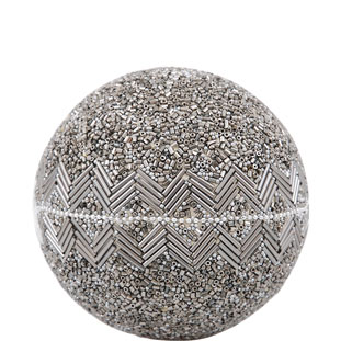 DECORATION BALL SPARKLE SILVER