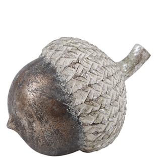 ACORN  DECOARTION EARL SILVER BIG