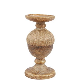 CANDLE HOLDER EWEN  GOLD