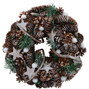 WREATH SNOWY