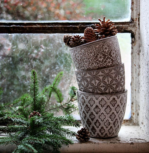 christmas pots