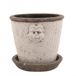 POT LION MEIDUM Ø19,5CM WHITE