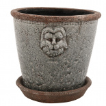POT LION LARGE GREY