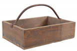 WOODEN BASKET TROYES LARGE