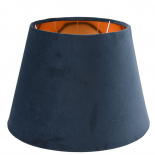 LAMP SHADE CHANTAL VELVET E14/E27 DIA 30 CM BLUE