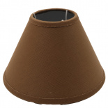 LAMP SHADE BASIC Ø19CM BROWN E14