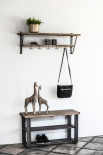 SHOE STAND TRIBECA VINTAGE GREY
