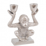 CANDLE HOLDER METAL MONKEY 2