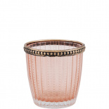 CANDLE HOLDER SAVILLE PINK SMALL