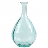 RECYCLED VASE DROPS TURQUOISE