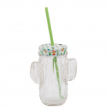 DRINKINGGLASS CACTUS WITH STRAW