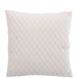 CUSHION COVER QUILTED VELVET 45X45 CREME