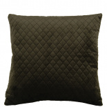 CUSHION COVER QUILTED VELVET 45X45 MOSS GREEN