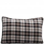 CUSHION COVER CHECK 40X60 BRUN