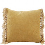 CUSHION COVER FRINGES 45X45CM DARK YELLOW