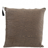 CUSHION COVER WOODY 45X45 BROWN