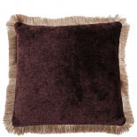 CUSHION COVER LONDON WITH FRINGES 45X45CM PURPLE