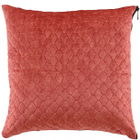 CUSHION COVER ALEGRA QUILTED 45X45CM DARK PINK