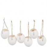 HANGING DECORATION EGG PICKED 6/SET